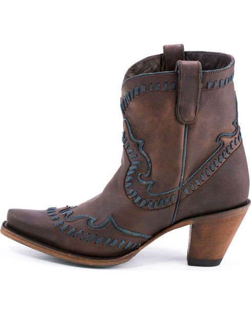 Lane Women's Hoedown Snip Toe Booties, Dark Brown, hi-res