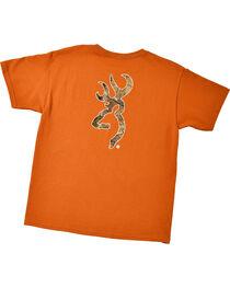 Browning Youth Boys' Orange Realtree Buckmark T-Shirt , , hi-res