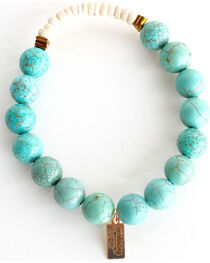 Everlasting Joy Jewelry Women's Turquoise Coconut Bracelet , , hi-res