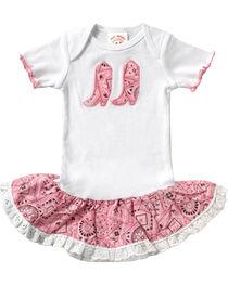 Baby Korral Infant Girl's Paisley Ruffle Onesie, , hi-res