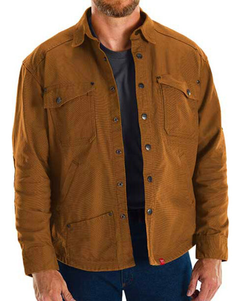 Red Kap Brown MIMIX Shirt Jac Work Jacket, Brown, hi-res