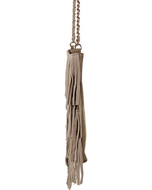 Shyanne® Women's Fringe Crossbody Tote, Tan, hi-res