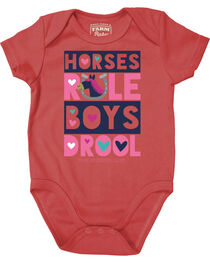 Farm Girl Infant Girls' Horses Rule Creeper, , hi-res
