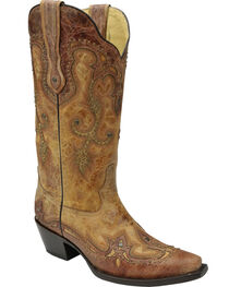 Corral Women's Antique Saddle Western Boots, , hi-res