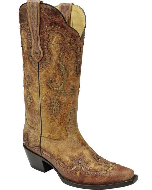 Corral Women's Antique Saddle Western Boots, Antique Saddle, hi-res