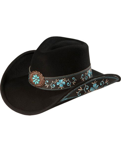 Bullhide All For Good Wool Cowboy Hat, Black, hi-res