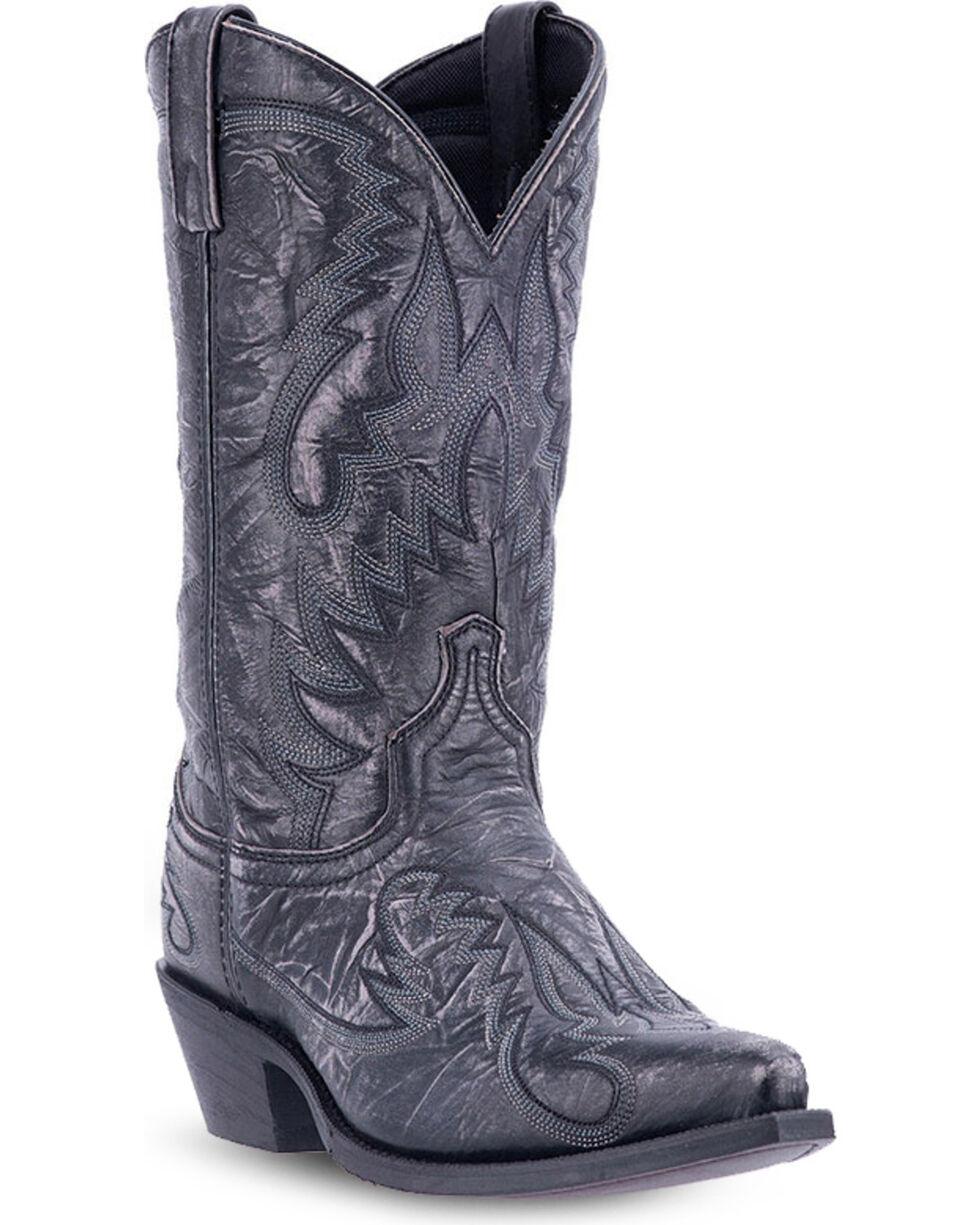 Laredo Men's Garrett Distressed Western Boots, Black, hi-res