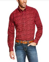 Ariat Men's Coral Paisley Long Sleeve Shirt, , hi-res