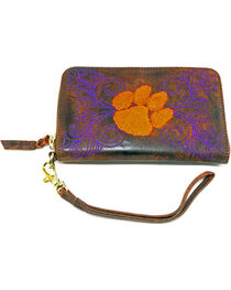 Gameday Boots Clemson University Leather Wristlet, , hi-res