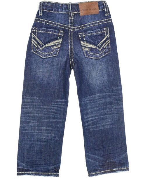 Cody James® Boy's Boot Cut Jeans, Dark Blue, hi-res