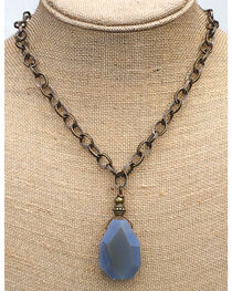 InspireDesigns Women's Blue Earthly Element Stone Necklace , , hi-res