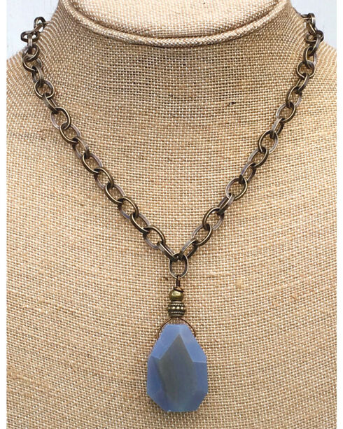 InspireDesigns Women's Blue Earthly Element Stone Necklace , Blue, hi-res