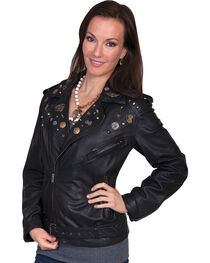 Scully Embellished Lamb Motorcycle Jacket, , hi-res