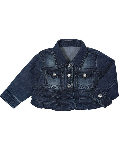 Wrangler Infant Girls' Denim Jacket, Blue, hi-res