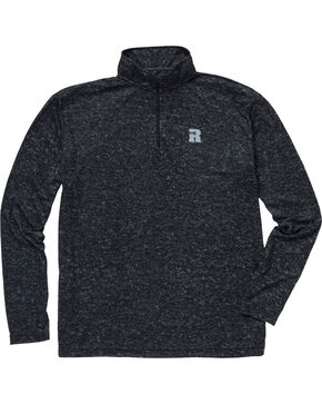 Wrangler Men's Olive Riggs Workwear 1/4 Zip Pullover - Big & Tall , Jet Black, hi-res