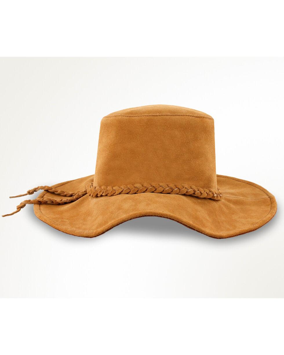 Minnetonka Moccasins Tan Parker Floppy Hat , Taupe, hi-res