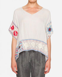 Johnny Was Women's Firenze V-Neck Patchwork Poncho , , hi-res