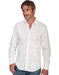 Scully Men's Tonal Embroidered Long Sleeve Shirt, , hi-res
