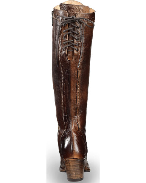 Bed Stu Women's Brown Fortune Back Lace Boots - Round Toe , Brown, hi-res