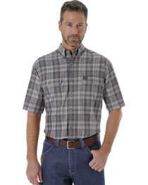 Wrangler Men's Plaid Short Sleeve Shirt  , , hi-res