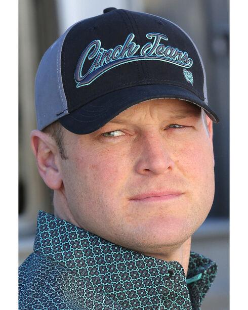 Cinch Men's Teal Snap Back Embroidered Logo Baseball Cap , Multi, hi-res