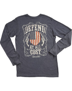 Cody James Men's Defend Long Sleeve Graphic Tee, Navy, hi-res