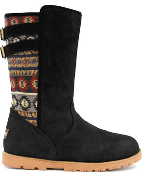 Lamo Women's Melanie Suede Winter Boots - Round Toe, Black, hi-res