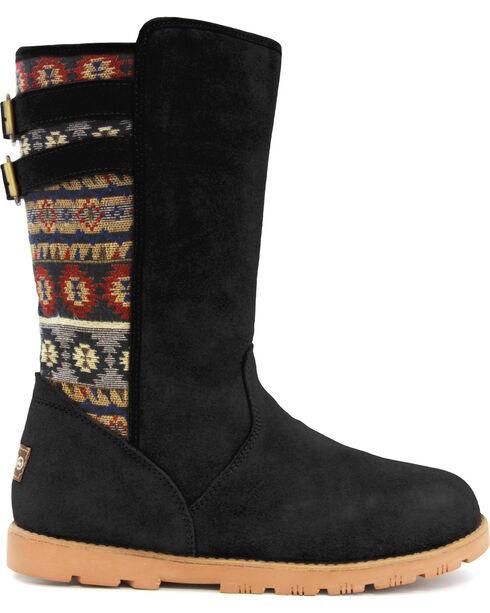 Lamo Women's Melanie Suede Winter Boots - Round Toe, Black, hi-res