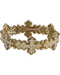 Shyanne Women's Rhinestone Cross Bracelet, , hi-res