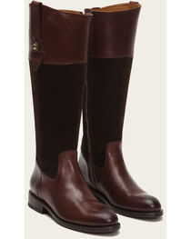 Frye Women's Chocolate Suede Jayden Button Tall Boots - Round Toe , , hi-res