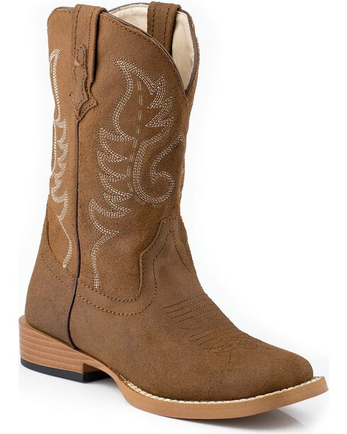 Roper Youth Western Boots, Tan, hi-res