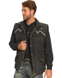Cowboy Hardware Men's Barbed Wire Embroidered Vest, , hi-res