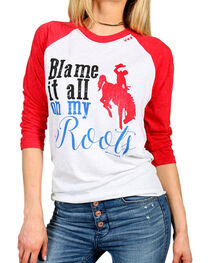 "Bohemian Cowgirl Women's ""Roots"" Long Sleeve Baseball Tee, , hi-res"
