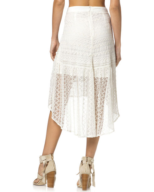 Miss Me Hi-Lo Lace Skirt, Off White, hi-res