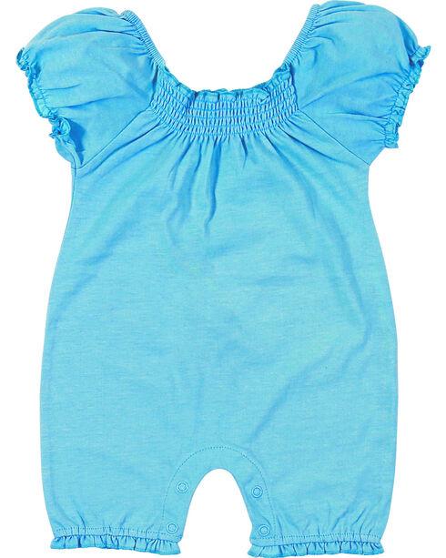 Wrangler Infant Girls' Blue Short Sleeve Bodysuit, Blue, hi-res