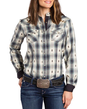 Sherry Cervi by Resistol Women's Bailey Printed Long Sleeve Shirt, Black, hi-res