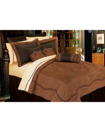 HiEnd Accents Embroidered Barbwire Comforter Set, , hi-res
