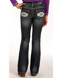 Rock & Roll Cowgirl Girls' (7-14) Aztec Embroidered Jeans - Boot Cut , , hi-res