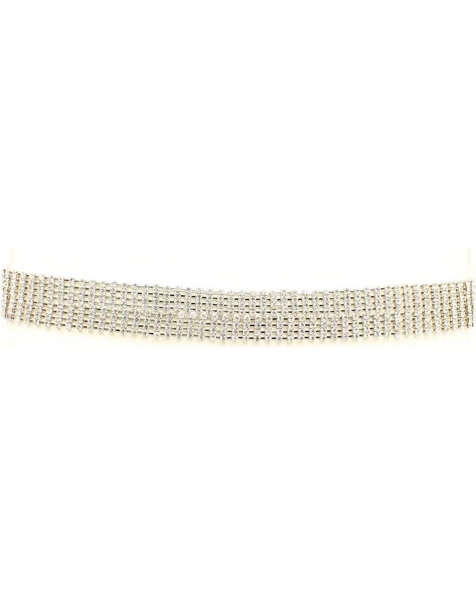 Rhinestone Hat Band, Silver, hi-res