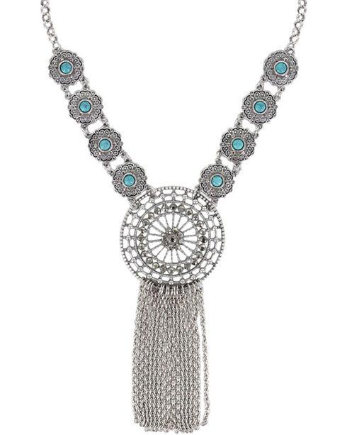 Shyanne® Women's Dream Catcher Necklace, Silver, hi-res