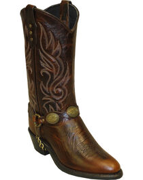 Sage by Abilene Women's Concho Harness Western Boots - Round Toe, , hi-res