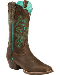 Justin Women's Buffalo Silver Collection Western Boots, , hi-res