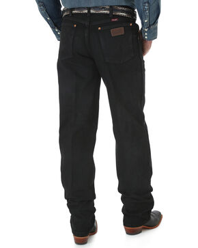 Wrangler Men's Black Cowboy Cut Relaxed Fit Jeans - Big, Black, hi-res