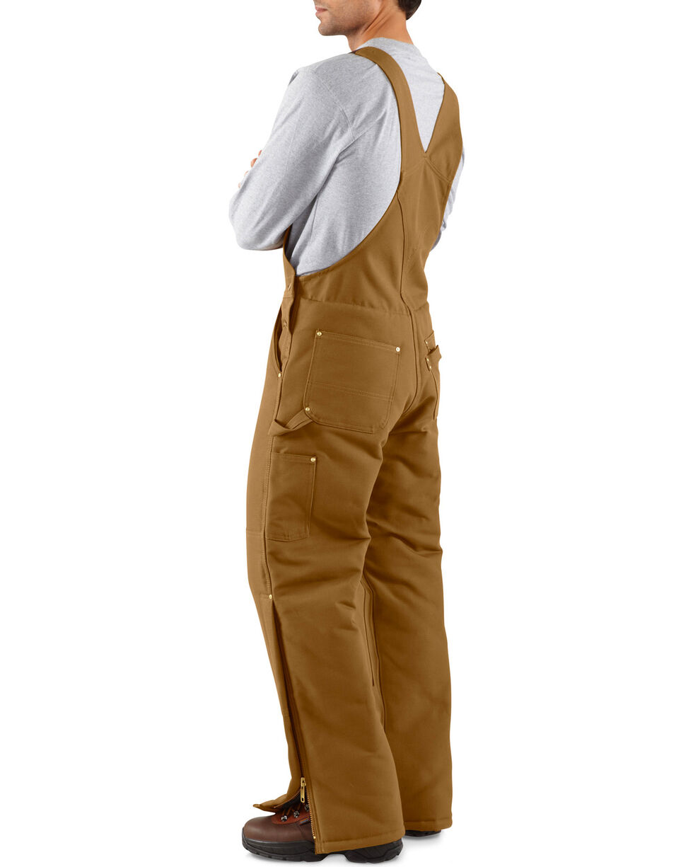 Carhartt Men's Artic Quilt Lined Bib Overalls, Brown, hi-res