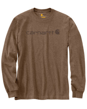 Carhartt Signature Logo Sleeve Knit T-Shirt, Brown, hi-res