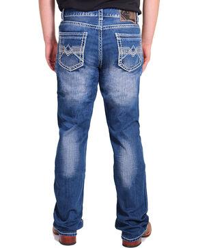 Rock & Roll Denim Men's Relaxed Straight Leg Jeans, Blue, hi-res