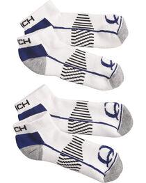 Cinch Men's White Athletic Ankle Socks (2-Pack), , hi-res