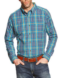 Ariat Men's Lucas Plaid Western Shirt, Multi, hi-res