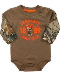 Carhartt Infant Boys' Camo Layered Onesie, , hi-res
