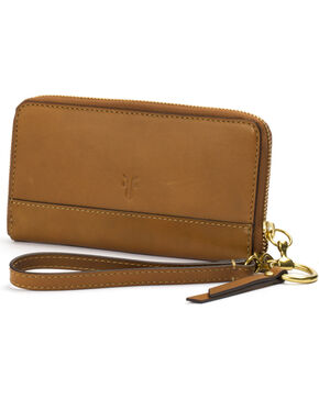 Frye Women's Suede Ilana Harness Phone Wallet , Cognac, hi-res